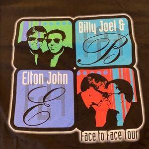 Elton John & Billy Joel Face to Face tour shirt